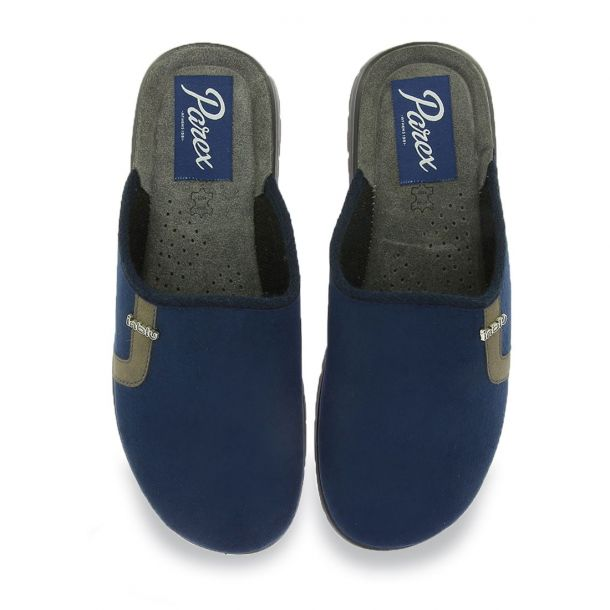 Men's Blue Slippers Parex