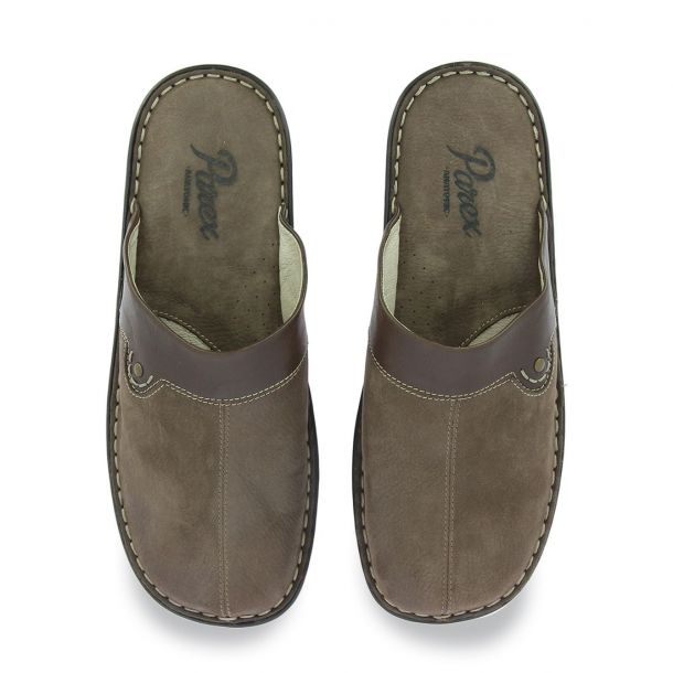 Men's Leather Slippers Parex