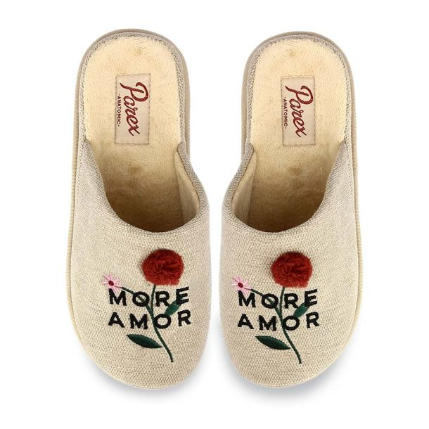 """Women's House Slippers """"More Amor"""" Parex 10120076"""
