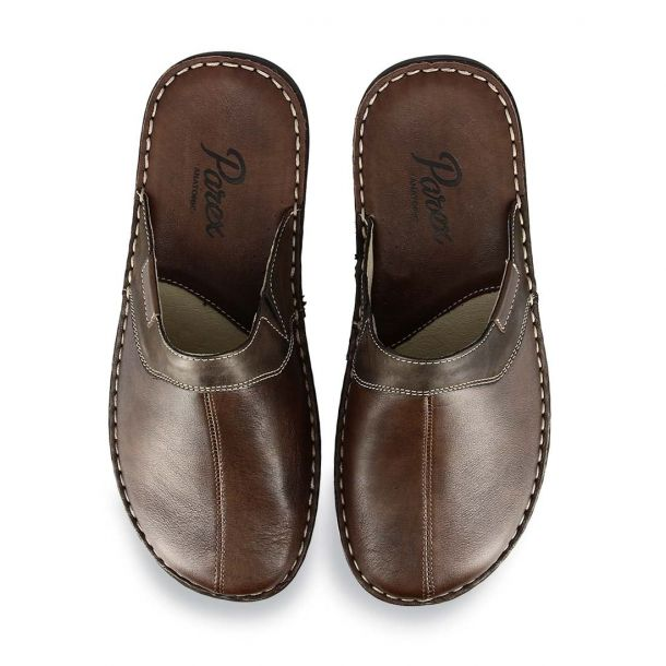 Men's Leather House Slippers Parex 10120248