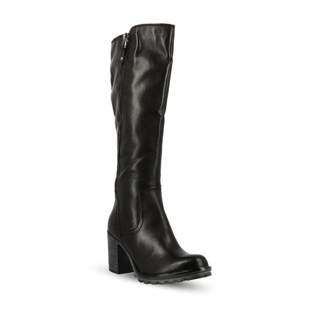 Women's Leather Knee Boots MARCO TOZZI 2-2-25623-21