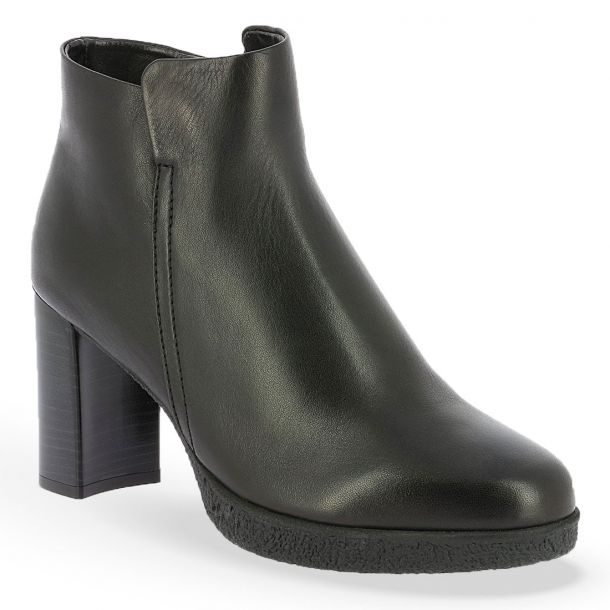 Women's Leather Heeled Ankle Boots Τhe Flexx D7012_04 HARAGON