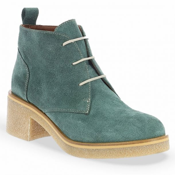 Women's Lace -Up Suede Ankle Boots Parex