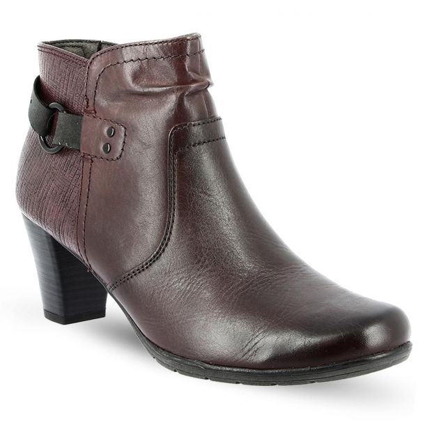 Women's Leather Ankle Boots JANA 8-8-25347-21