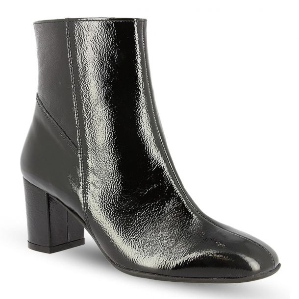 Women's Leather Heeled Ankle Boots RAGAZZA 0653