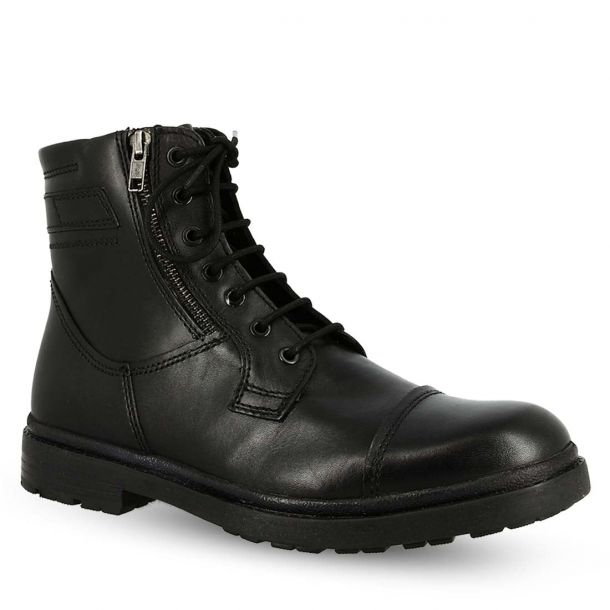 Men's Leather Biker Ankle Boots  Canguro A136-310