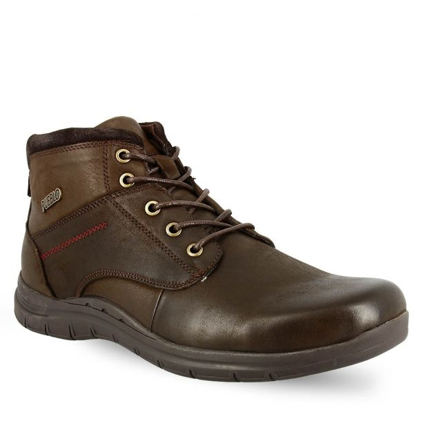 Men's Leather Lace Up Ankle Boots Jag Vedo