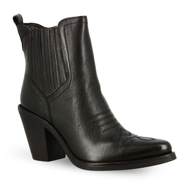 Women's Leather Ankle Boots Hosis Clu5803-01-0001