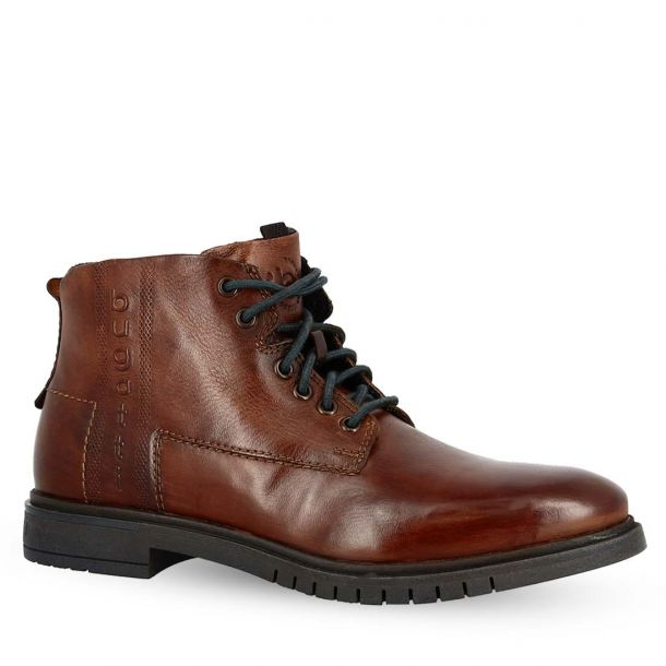 Men's Leather Lace Up Ankle Boots Bugatti 311-78030-3500 6300