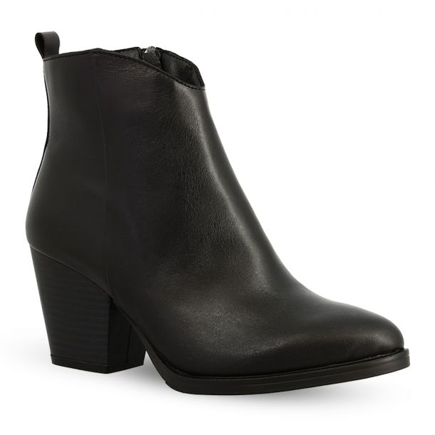 Women's Leather Cowboy Ankle Boots  Ragazza 0294