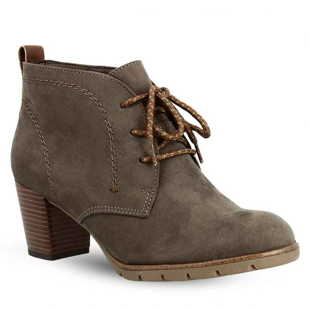 Women's Lace Up Heeled Ankle Boots Marco Tozzi 2-2-25107-35 301