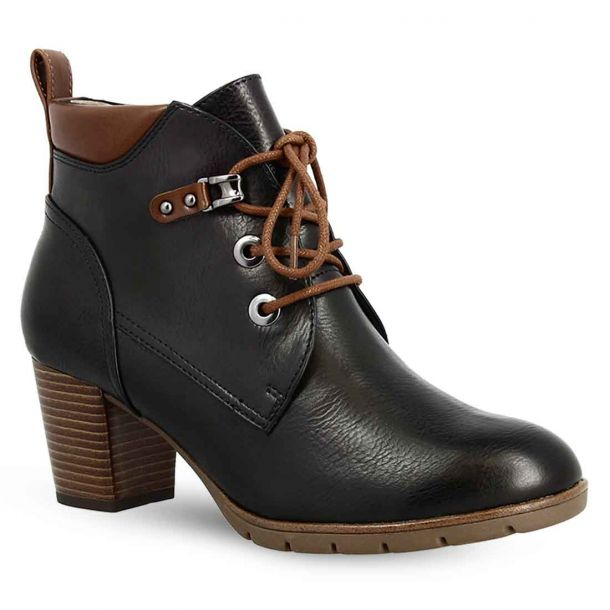 Women's Lace Up Heeled Ankle Boots Marco Tozzi 2-2-25122-35 820