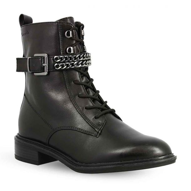Women's Leather Lace Up Ankle Boots Tamaris 1-1-25114-25 001