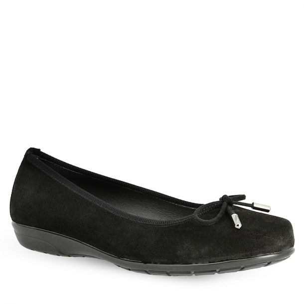 Women's Suede Leather Ballerinas Parex 10421004