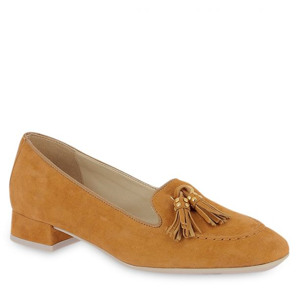 Women's Leather Moccasins THEFLEXX - Long Hair