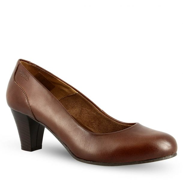 Women's Leather Heeled Pumps Ragazza