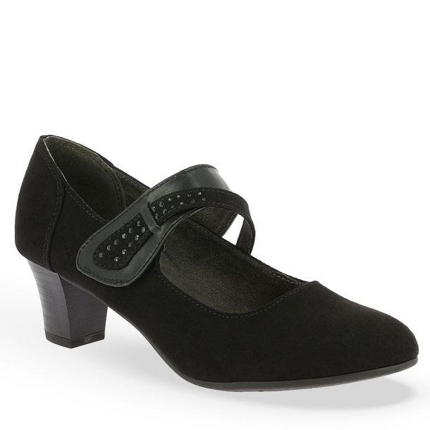Women's Ballerina Pumps With Embellished Strap Soft Line by Jana 8-8-24401-21