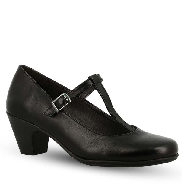 Women's Leather Pumps T-Bar Parex 10620001