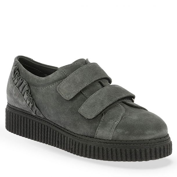 Women's Suede Leather  Sneakers with Frills Parex