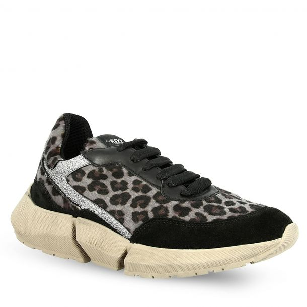 Women's Leather Animal Print Sneakers THE FLEXX E0512_06 LEOPARD P MIX-SM