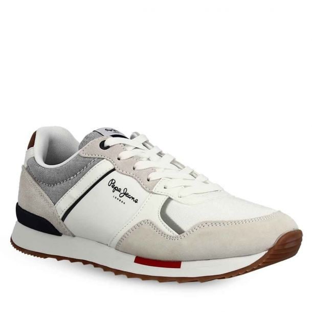 Men's Leather Sneakers Pepe Jeans Pms30704 800 White