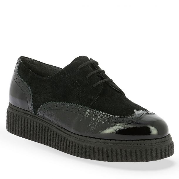 Women's Suede and Patent Leather Parex