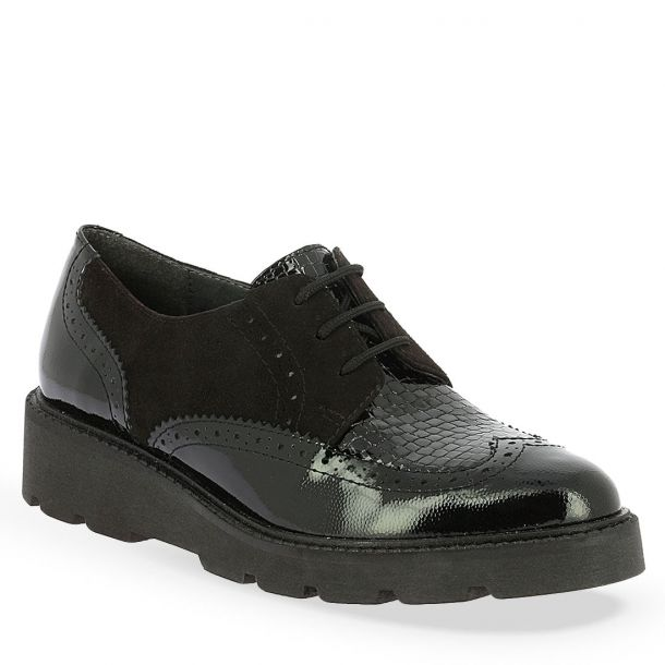 Women's Leather Oxford Lace-up shoes Parex