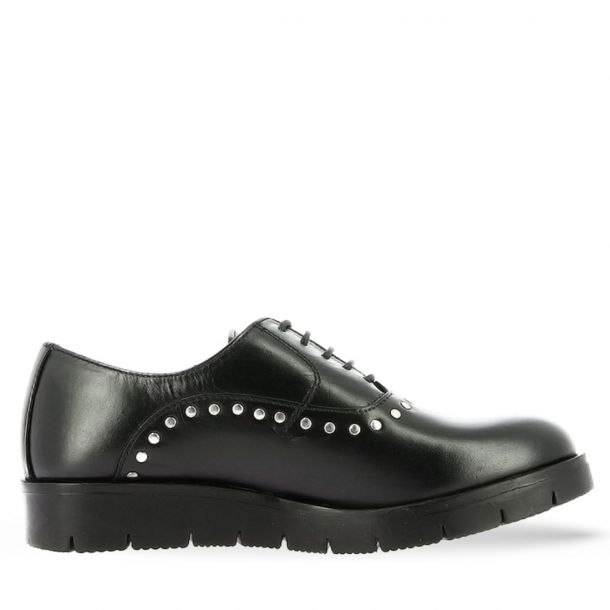 Women's Leather Oxfords with Studs Parex