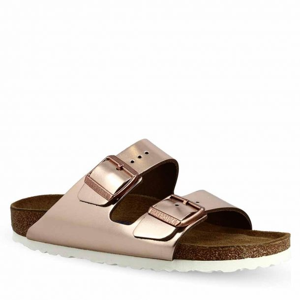 Women's Sandals Birkenstock Arizona Sfb Metallic Copper Core