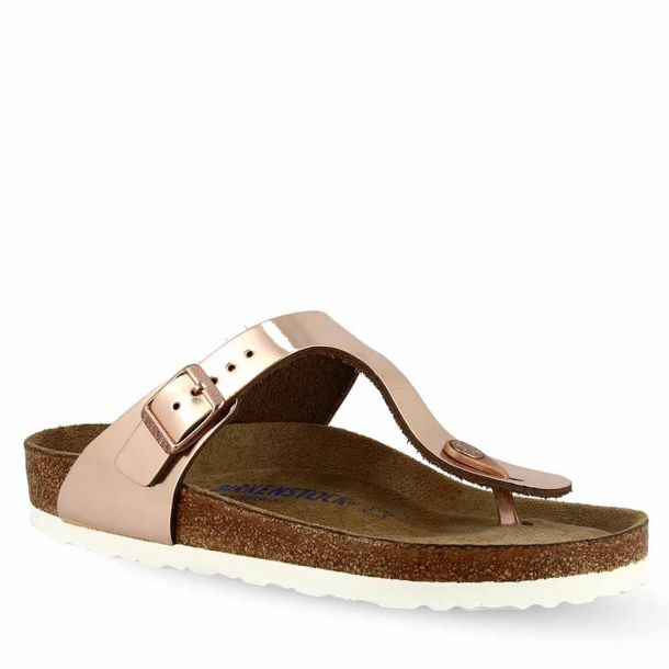 Women's Sandals Birkenstock Gizeh Sfb Metallic Copper Core