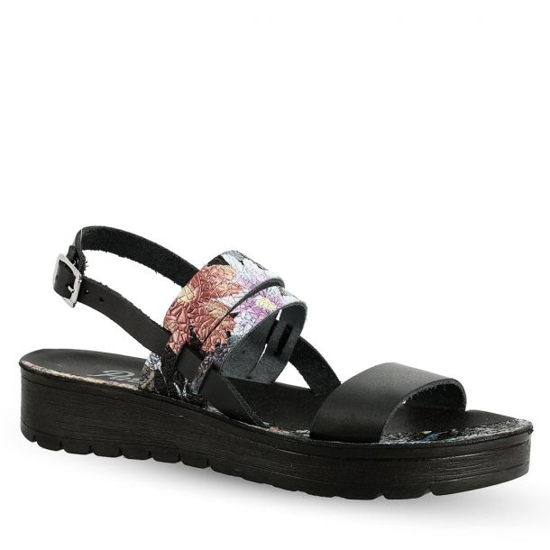 Women's Leather Floral Sandals Bella Τ75