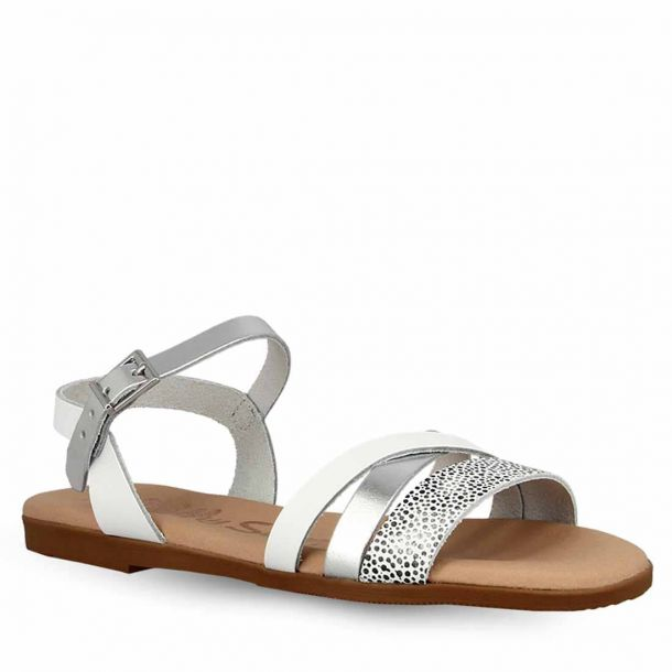 Girl's Leather Flat Sandals Oh My Sandals 4621