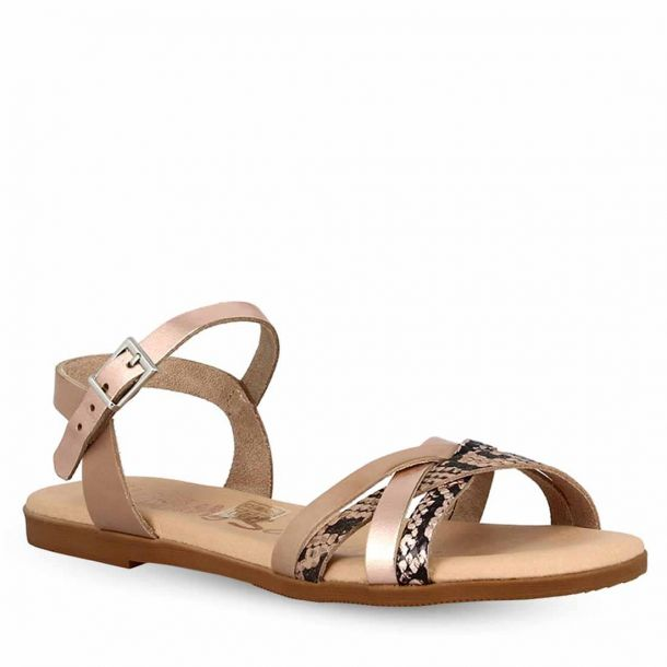 Girl's Leather Flat Sandals Oh My Sandals 4623