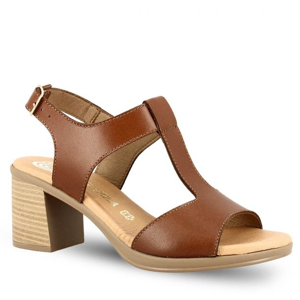 Leather Heeled Sandals Ragazza 0782
