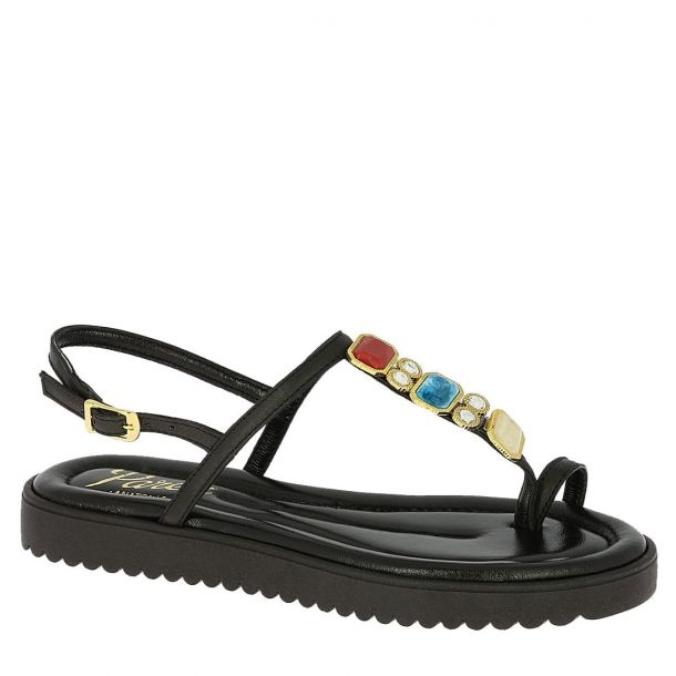 Women's Leather Beaded Sandals Parex