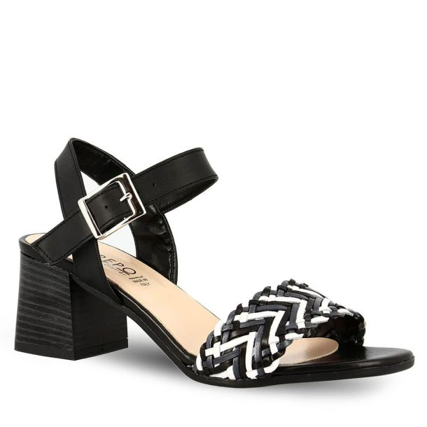 Woman's Leather Heeled Sandals Repo 30538