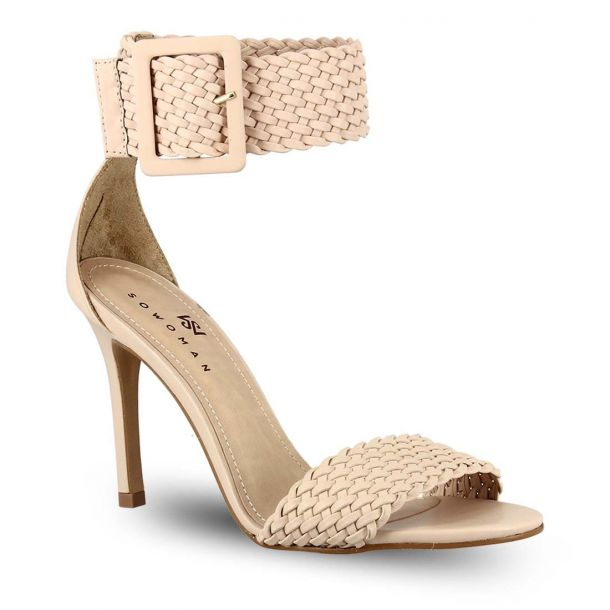 Women's Leather Heeded Sandals Sowoman 11619229