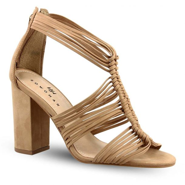 Women's Leather Heeded Sandals Sowoman 11619235