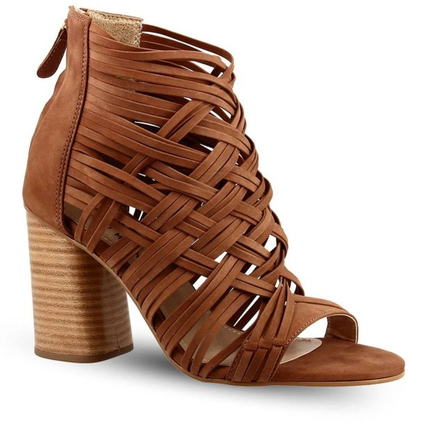 Women's Leather Heeded Sandals Sowoman 11619236