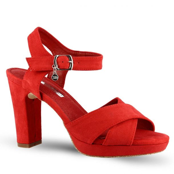 Women's Red Heeled Sandals Xti 32035