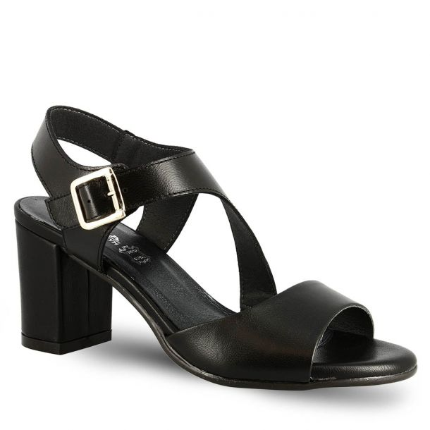 Women's Leather Heeled Sandals Ragazza 647