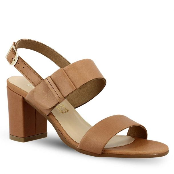 Women's Leather Heeled Sandals Ragazza 0642