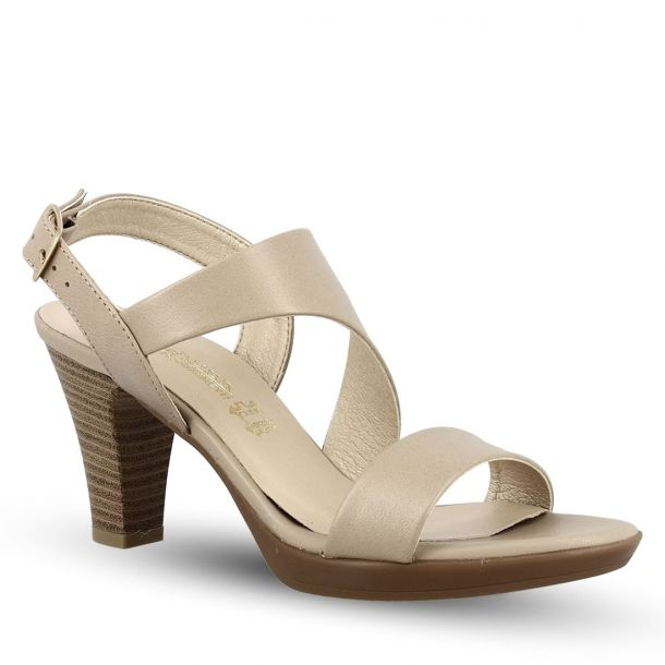 Women's Leather Heeled Sandals Ragazza 791
