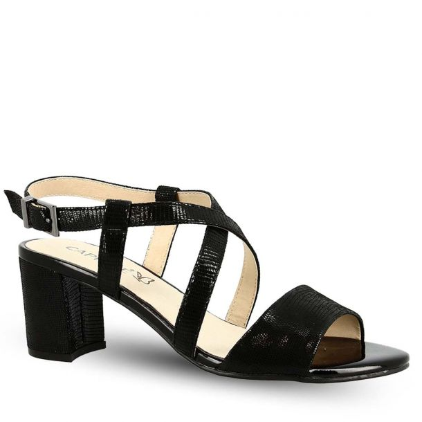 Women's Leather Heeled Sandals Caprice 9-9-28300-22 010