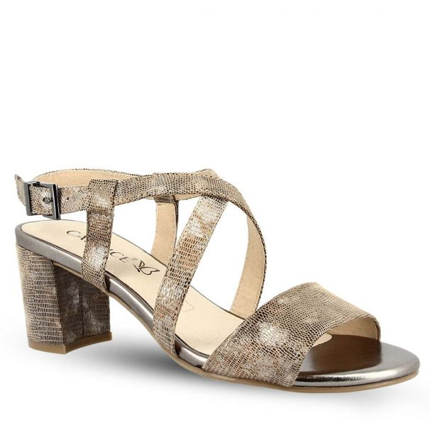 Women's Leather Heeled Sandals Caprice 9-9-28300-22 416