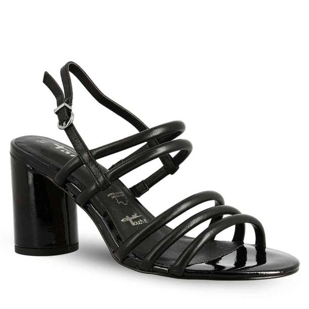Woman's Leather Heeled Sandals Tamaris 1-1-28034-32 001