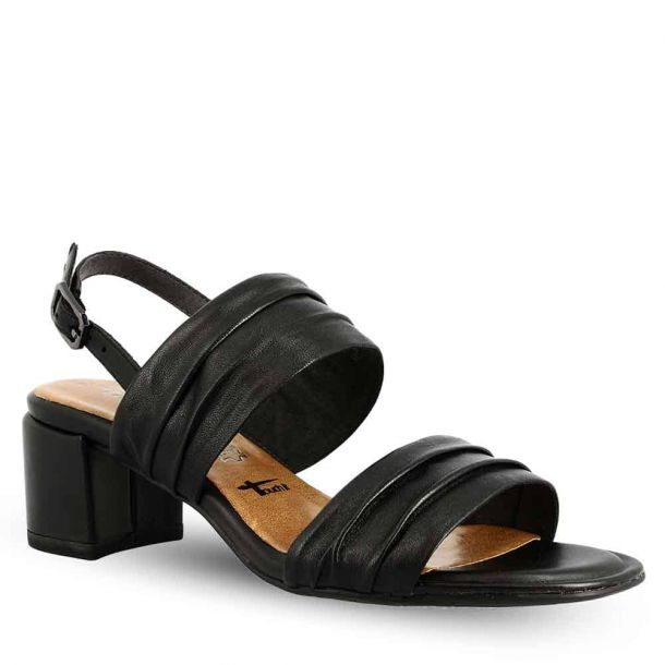 Woman's Leather Heeled Sandals Tamaris 1-1-28386-22 003