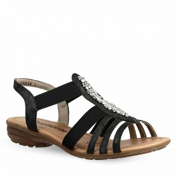 Women's Leather Low Heeled Sandals Remonte R3660-45