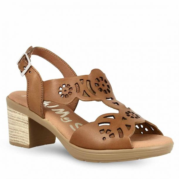 Women's Leather Heeled Sandals Oh My Sandals 4584