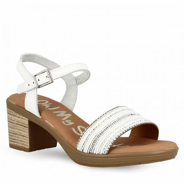 Women's Leather Heeled Sandals Oh My Sandals 4585